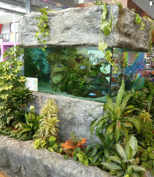 Aquarium aus Kunstfelsen