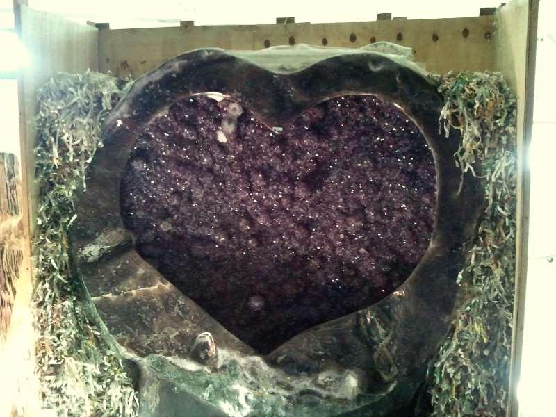 Kristall Kunstfelsen Herz